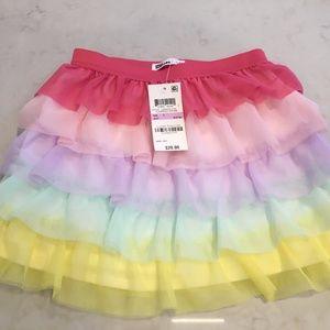 Epic Toddler Girls Rainbow Ruffle Skirt